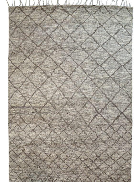 Χειροποίητο μάλλινο χαλί με μαροκινό σχέδιο