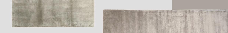 Συλλογή από μοντέρνα χειροποίητα χαλιά από φυτικό μετάξι.